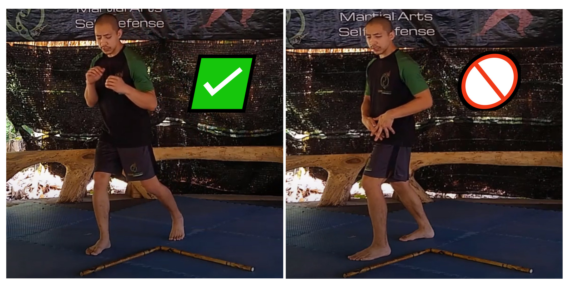 Panantukan Open Triangle Footwork right wrong
